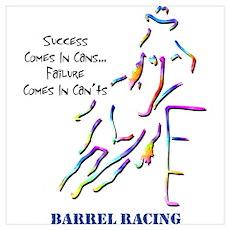Barrel Racing Poster