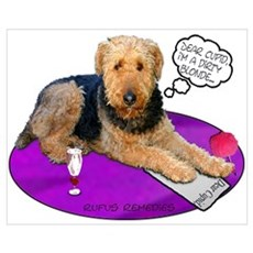 Airedale Valentine's Canvas Art