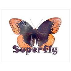 Vintage Distressed Superfly B Poster