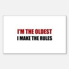Oldest Make The Rules Decal