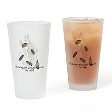 Skeletons, Points, & Sherds Drinking Glass