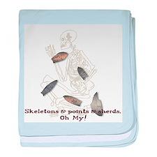 Skeletons, Points, & Sherds baby blanket