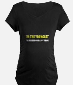 Youngest Rules Don't Apply Maternity T-Shirt