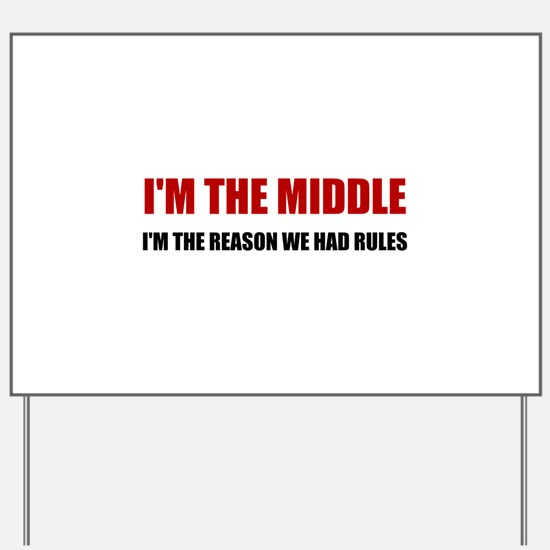 Middle Reason For Rules Yard Sign