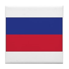 Haiti Civil Flag Tile Coaster