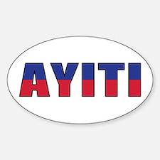 Haiti (Creole) Sticker (Oval 10 pk)