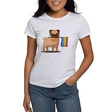 Rainbow Hearts Clutch Bag
