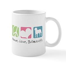Peace, Love, Bullmastiffs Mug