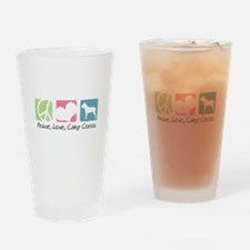 Peace, Love, Cane Corsos Drinking Glass