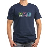 Peace, Love, Cane Corsos Men's Fitted T-Shirt (dar