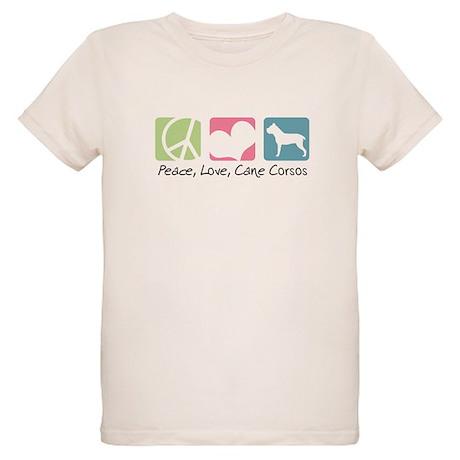 Peace, Love, Cane Corsos Organic Kids T-Shirt