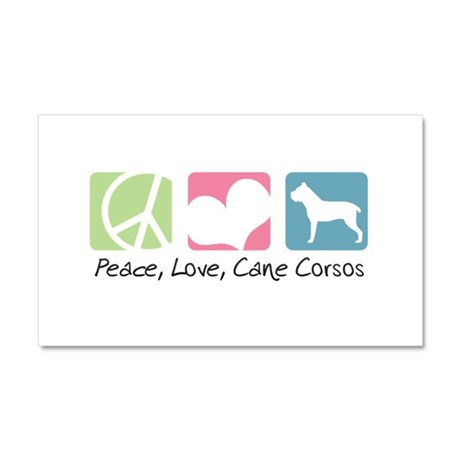 Peace, Love, Cane Corsos Car Magnet 20 x 12