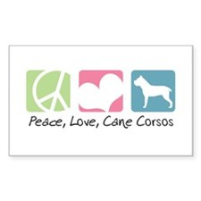 Peace, Love, Cane Corsos Decal