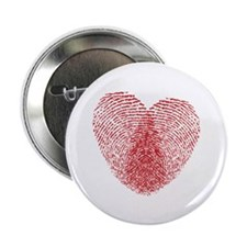 "fingerprint heart 2.25"" Button (100 pack)"