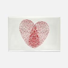 fingerprint heart Rectangle Magnet