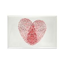 fingerprint heart Rectangle Magnet (100 pack)