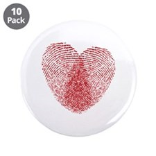 "fingerprint heart 3.5"" Button (10 pack)"