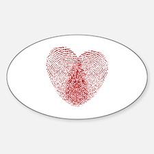 fingerprint heart Decal