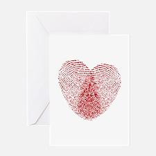 fingerprint heart Greeting Card