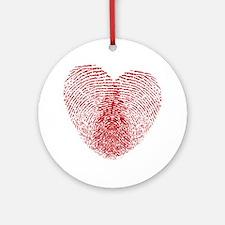 fingerprint heart Ornament (Round)
