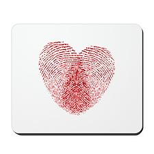 fingerprint heart Mousepad
