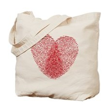fingerprint heart Tote Bag