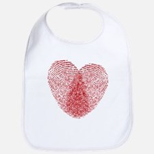 fingerprint heart Bib