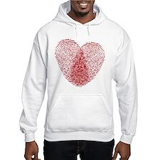 fingerprint heart Jumper Hoody