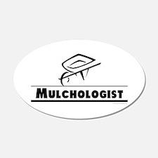 Mulchologist 22x14 Oval Wall Peel