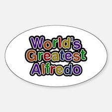 World's Greatest Alfredo Oval Decal