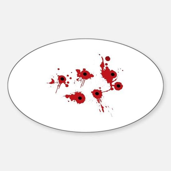 Unique Bullet hole Sticker (Oval)