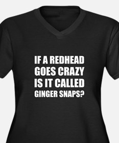 Redhead Called Ginger Snap Plus Size T-Shirt