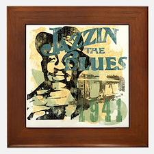 Jazzin The Blues Framed Tile
