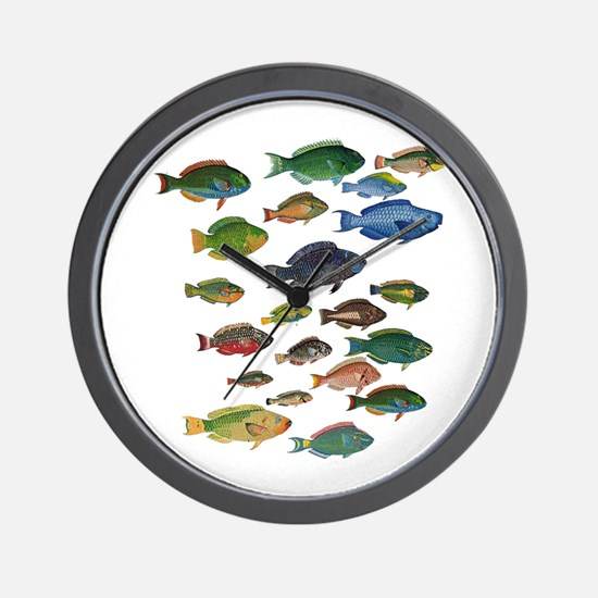 Funny Coral reef Wall Clock