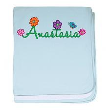 Anastasia Flowers baby blanket