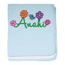 Anahi Flowers baby blanket