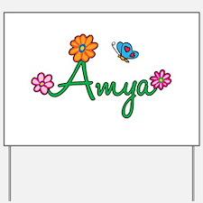 Amya Flowers Yard Sign