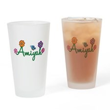 Amiyah Flowers Drinking Glass