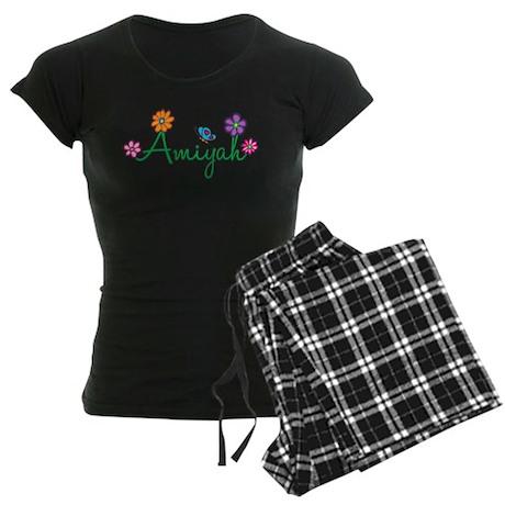 Amiyah Flowers Women's Dark Pajamas