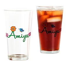 Amiya Flowers Drinking Glass