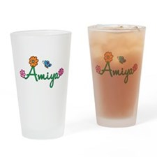 Amiya Flowers Drinking Glass