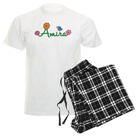 Amira Flowers Men's Light Pajamas