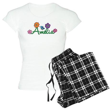Amelia Flowers Women's Light Pajamas