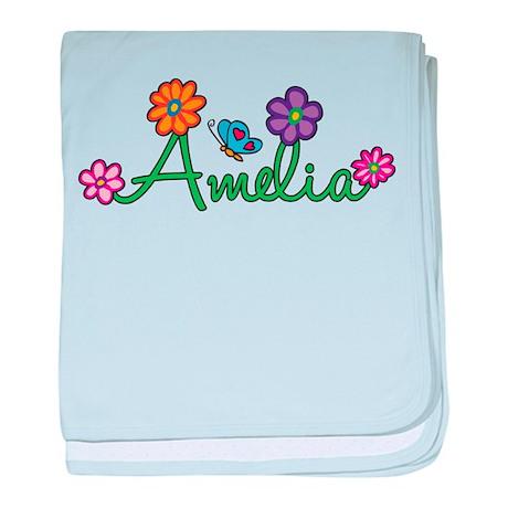 Amelia Flowers baby blanket