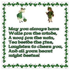 Irish Blessings, Saying, Toasts and Prayer Small F Canvas Art