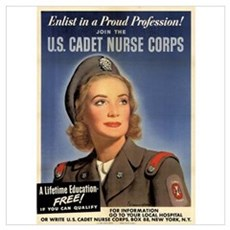Wartime US Cadet Nurse Corps Poster