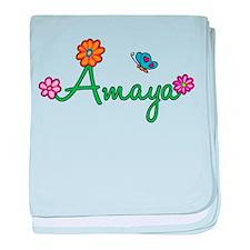 Amaya Flowers baby blanket
