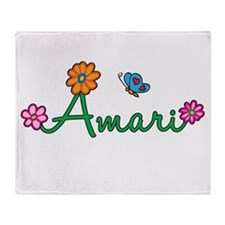 Amari Flowers Throw Blanket