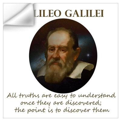 Galileo Quote - Truth Wall Decal
