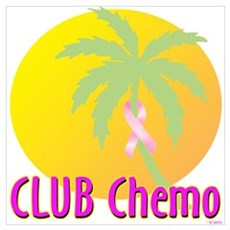 Club Chemo-Breast Cancer Canvas Art